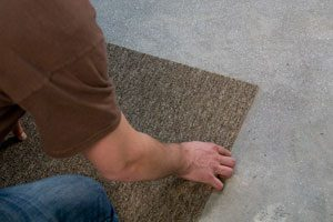 Floor adhesives for carpet tile